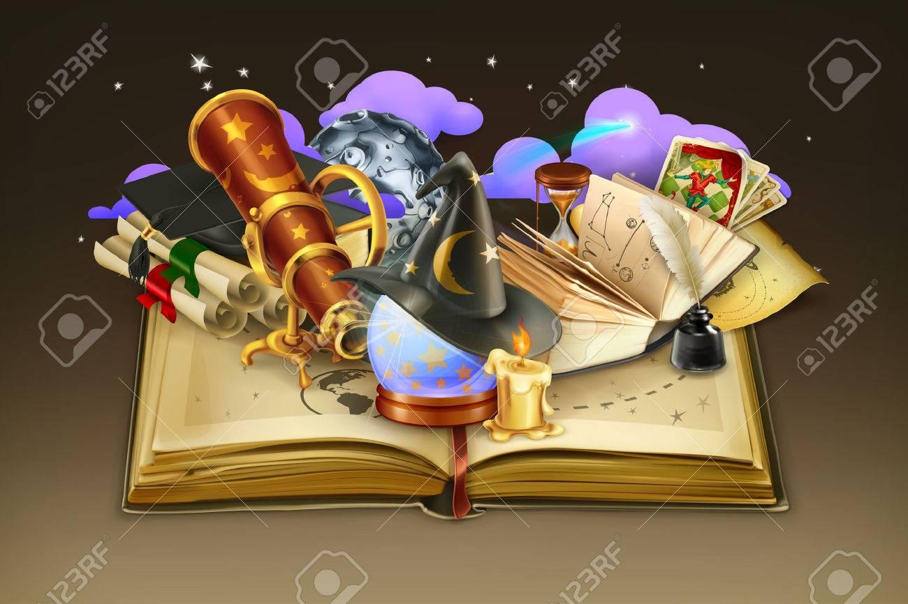 School and book, vector background Stock Vector - 44550286