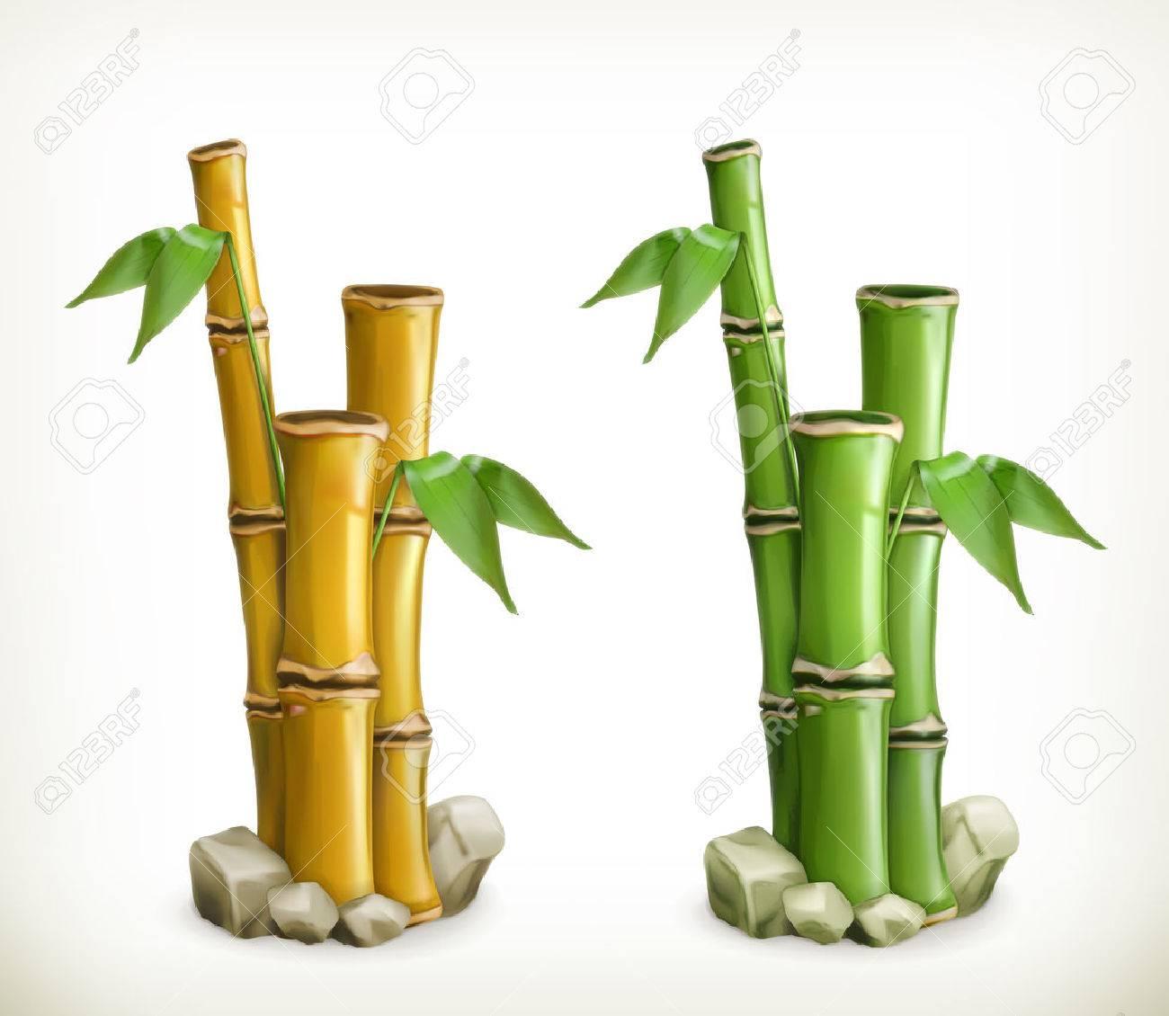 Bamboo, vector icon Stock Vector - 44550962
