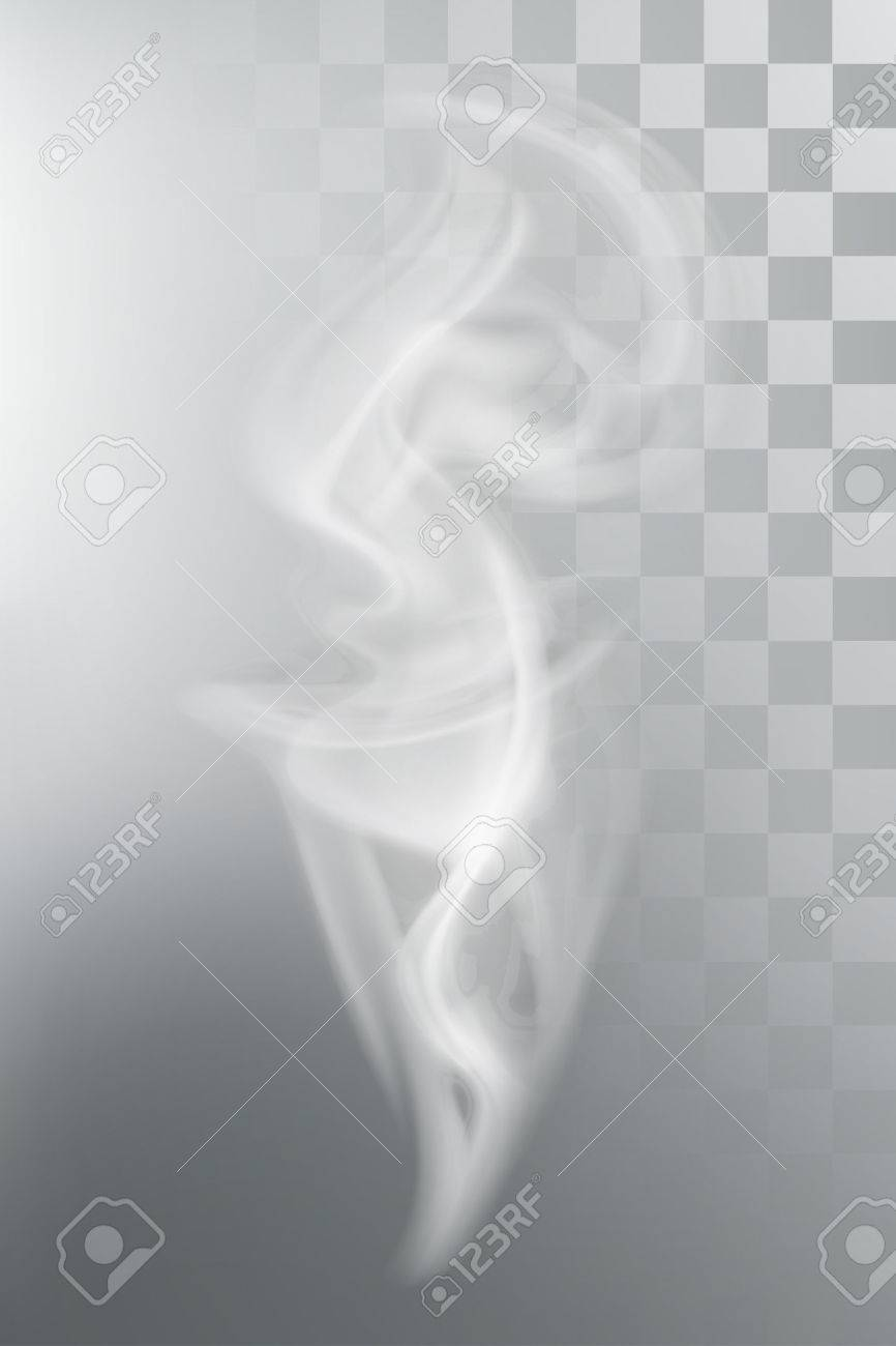 Smoke aroma steam, vector illustration with transparency Stock Vector - 45358160