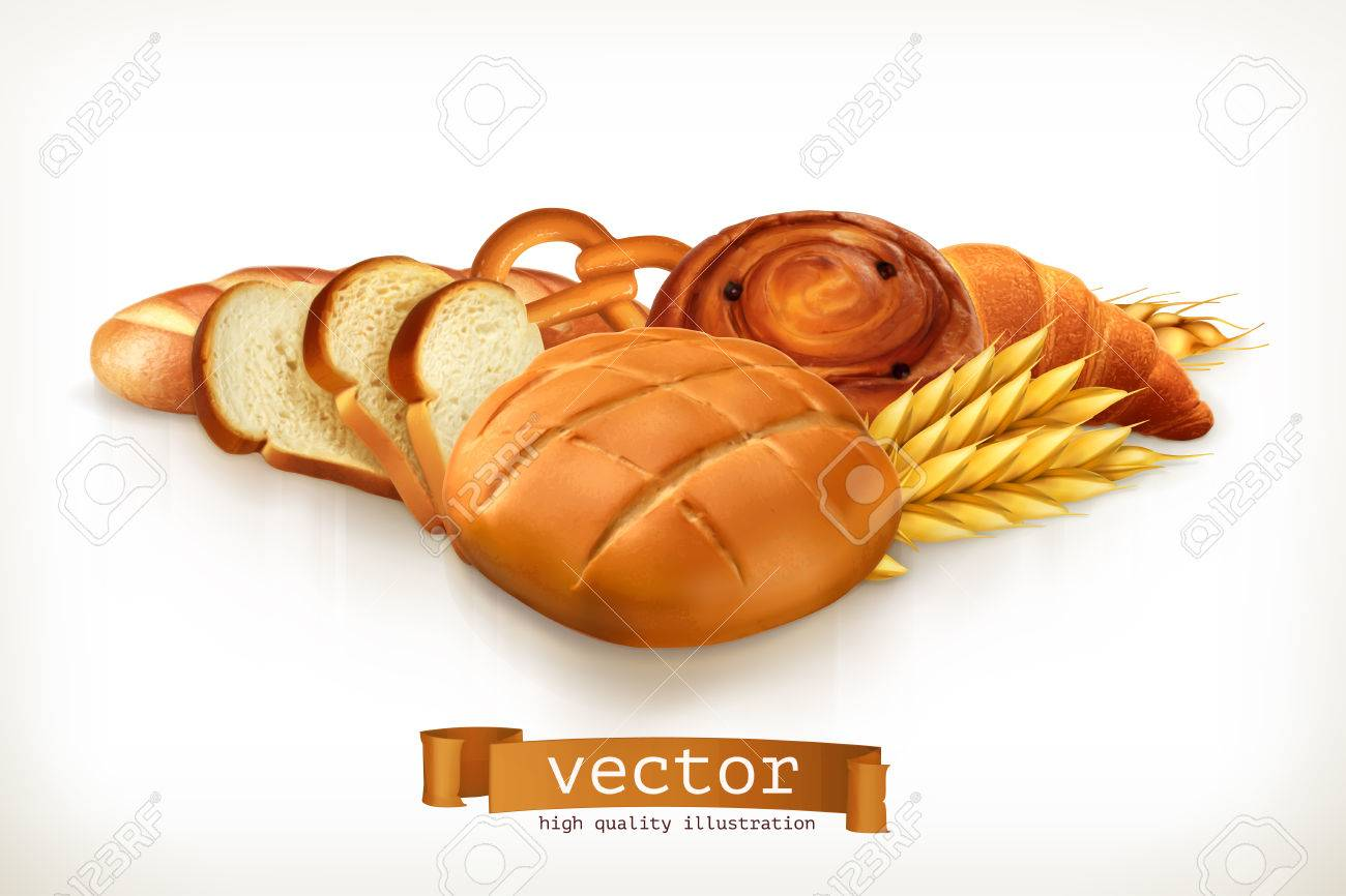 Bread, vector illustration isolated on white - 58605936