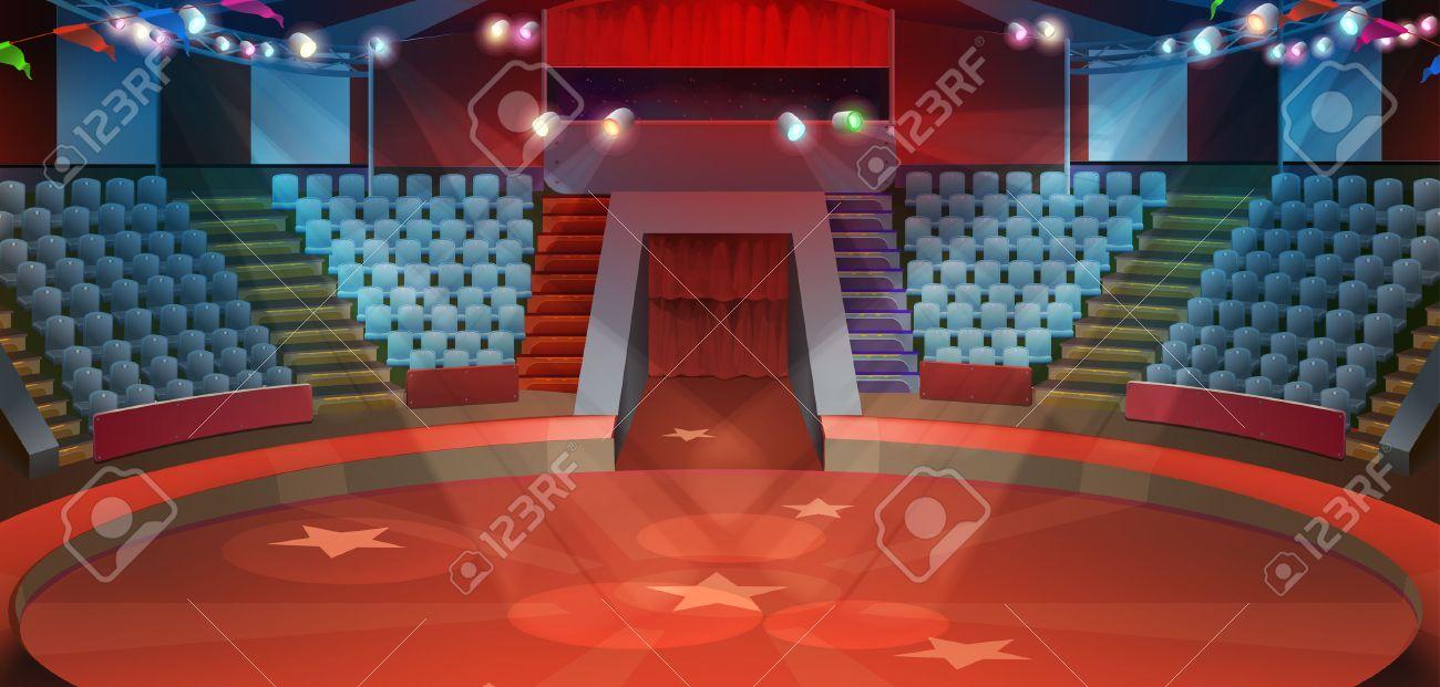 Circus arena, vector background Stock Vector - 58605959