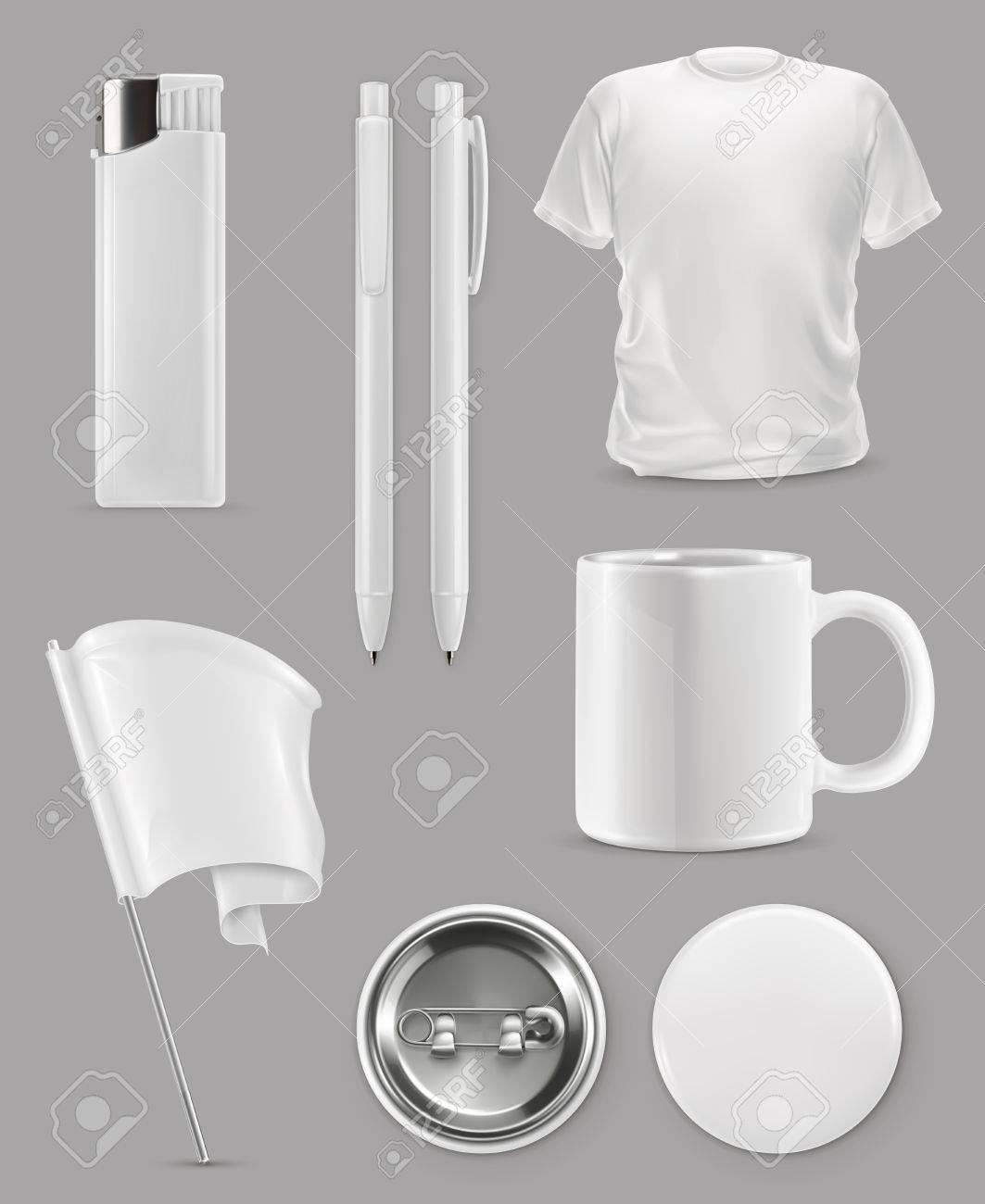 Promotional items, vector set mockup - 68712487