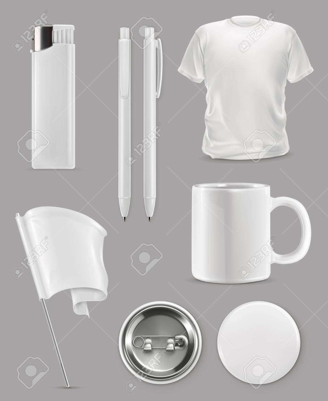 Promotional items, vector set mockup Stock Vector - 68712487