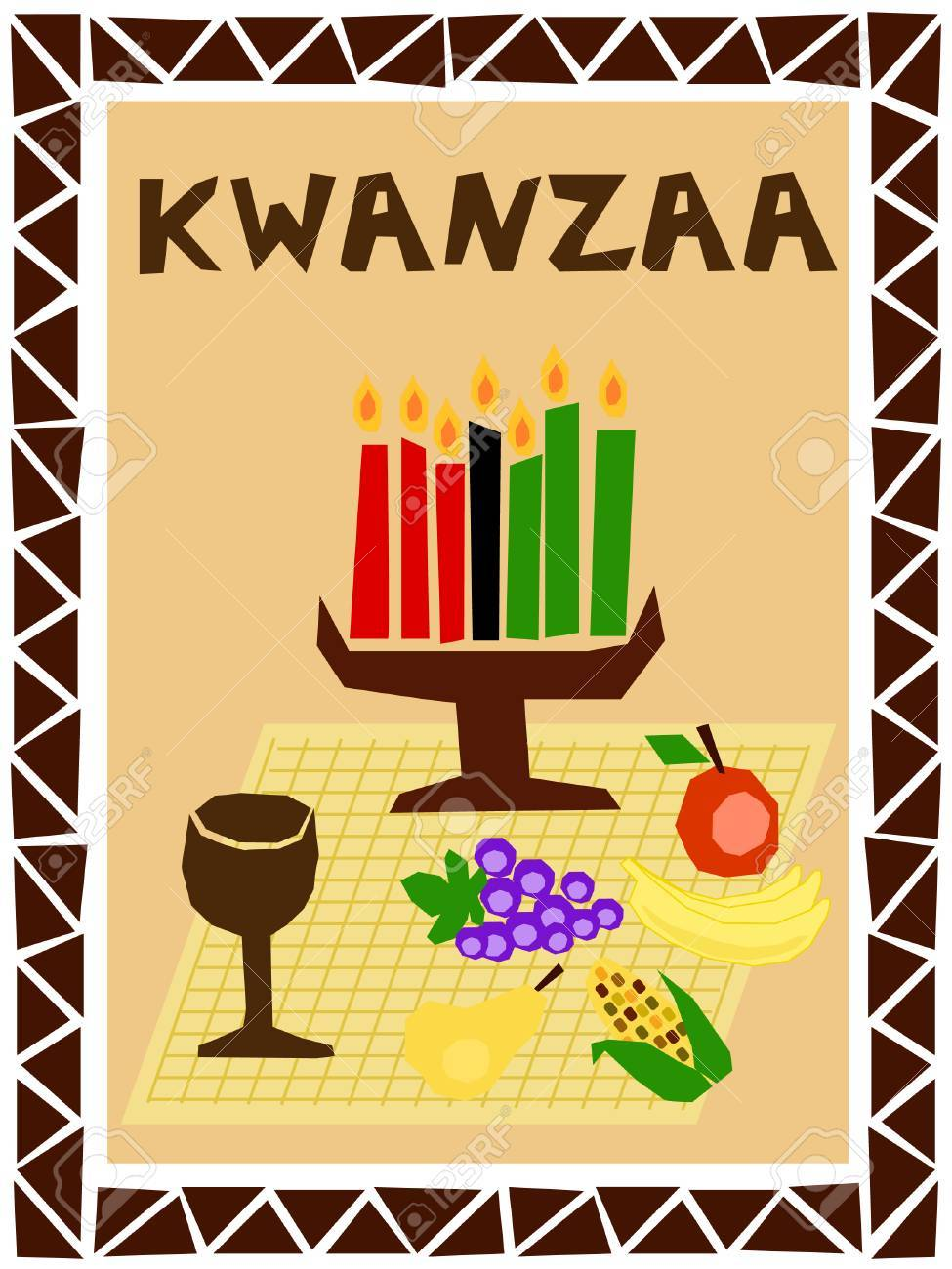 traditional kwanzaa stuff drawn in simple manner Stock Vector - 8111895