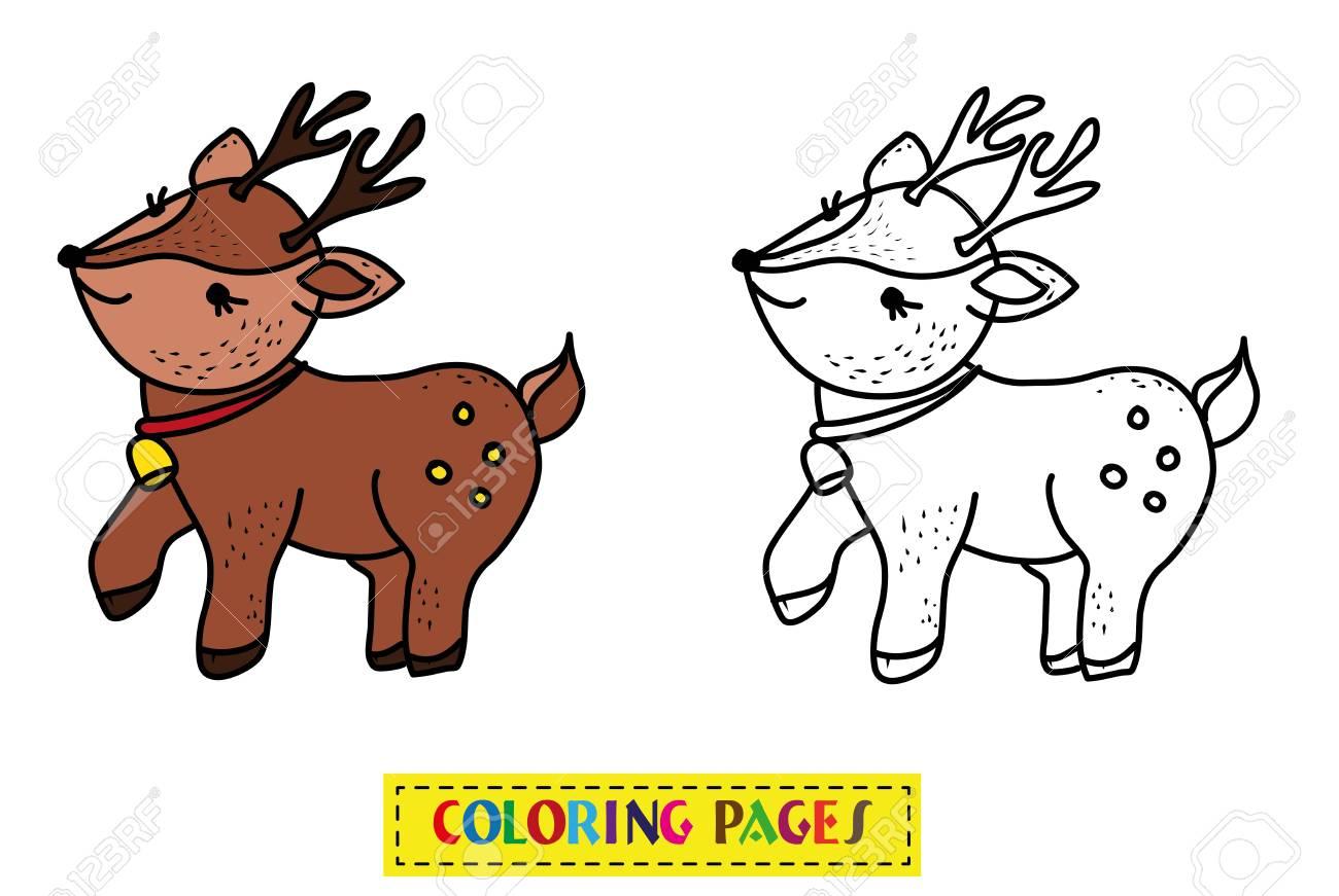 Juego De Renos De Libros Para Colorear Para Niños Ilustraciones ...