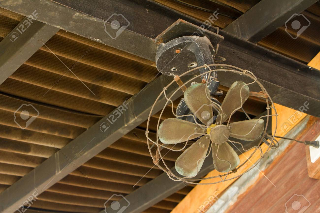 An Old Ceiling Fan Stock Photo   22926465