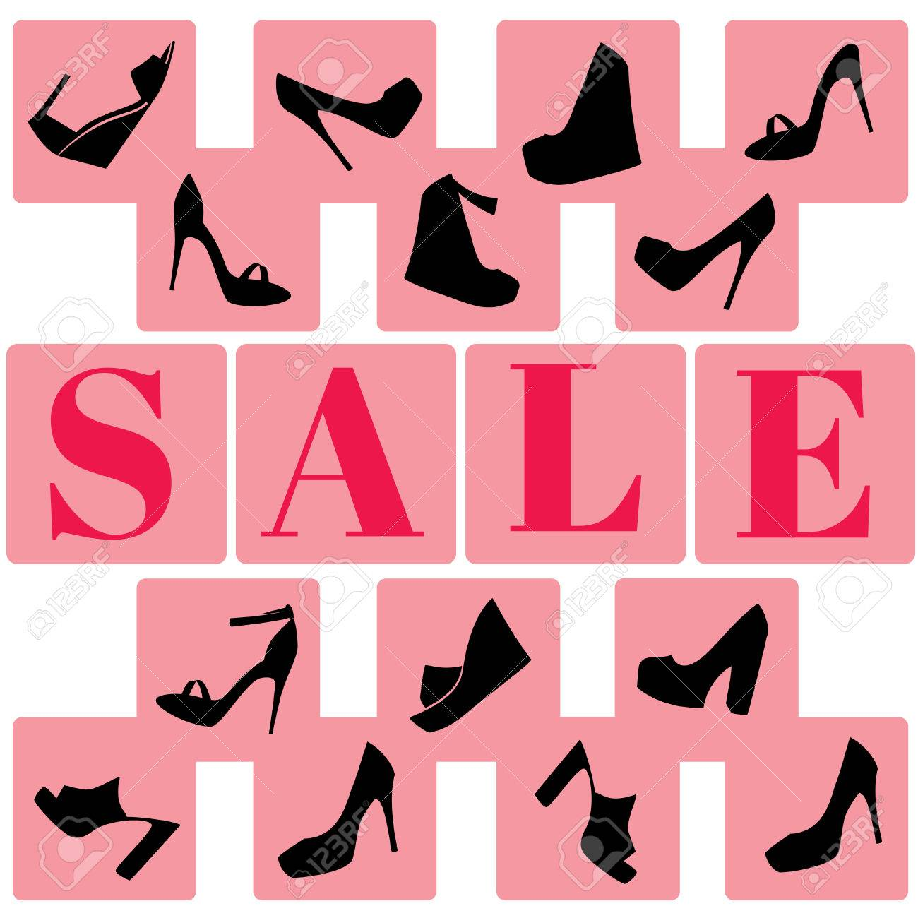 5882bc2d Foto de archivo - Venta de zapatos. Publicidad. Descuentos. Ilustración del  vector. Zapatos de mujer.