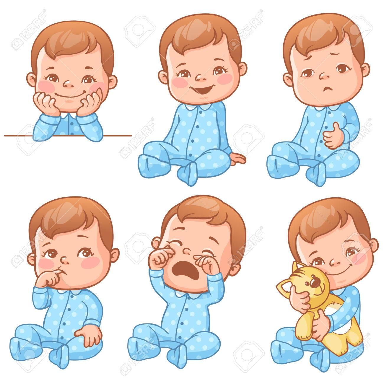 baby boy emotions set - 71091964