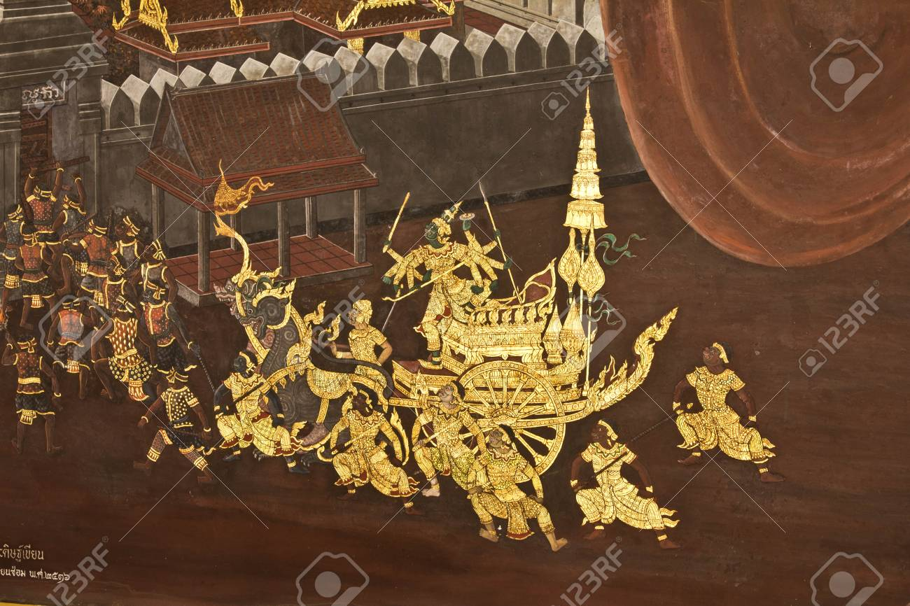 Murals inside the temple. Stock Photo - 11026325