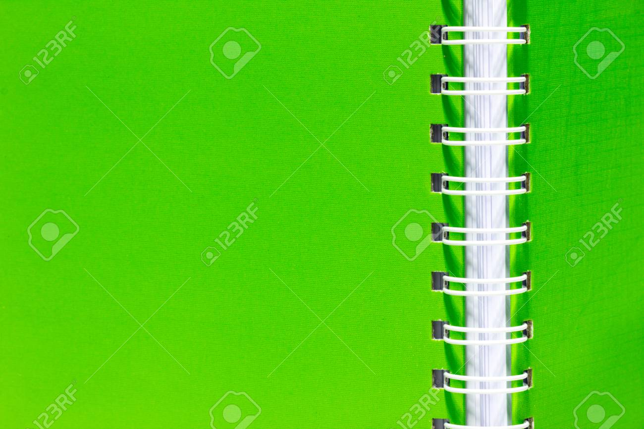 stack of ring binder book or notebook vertical green stock photo