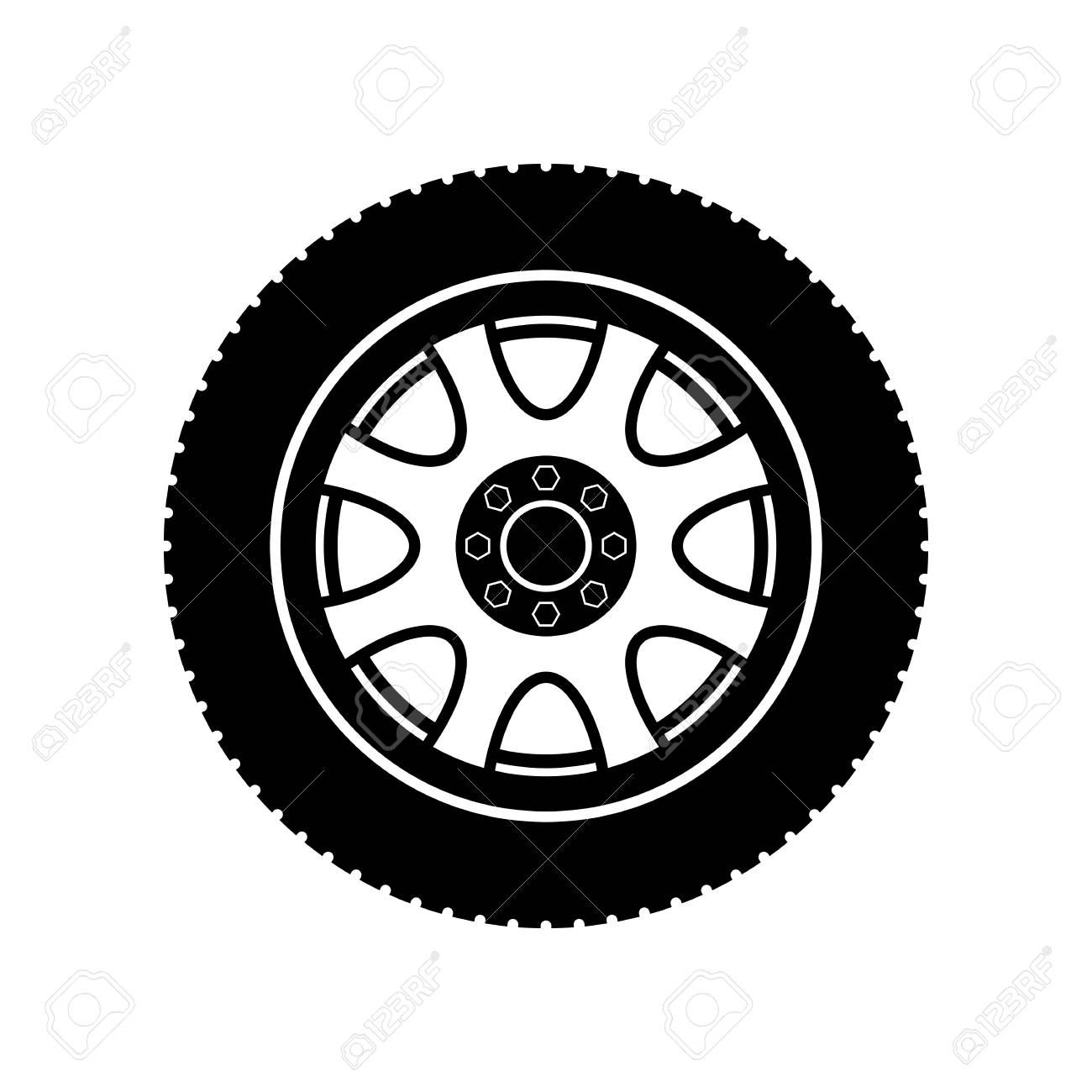 bc5c927fa3a56a Car Wheel Icon - Vector Royalty Free Cliparts, Vectors, And Stock ...