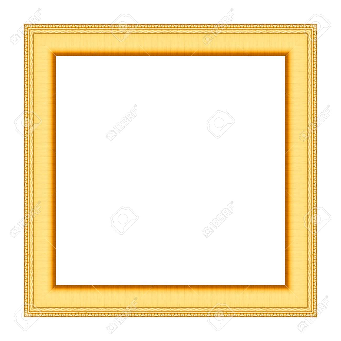 d004a45e044 Old Antique Gold Frame Isolated On White Background