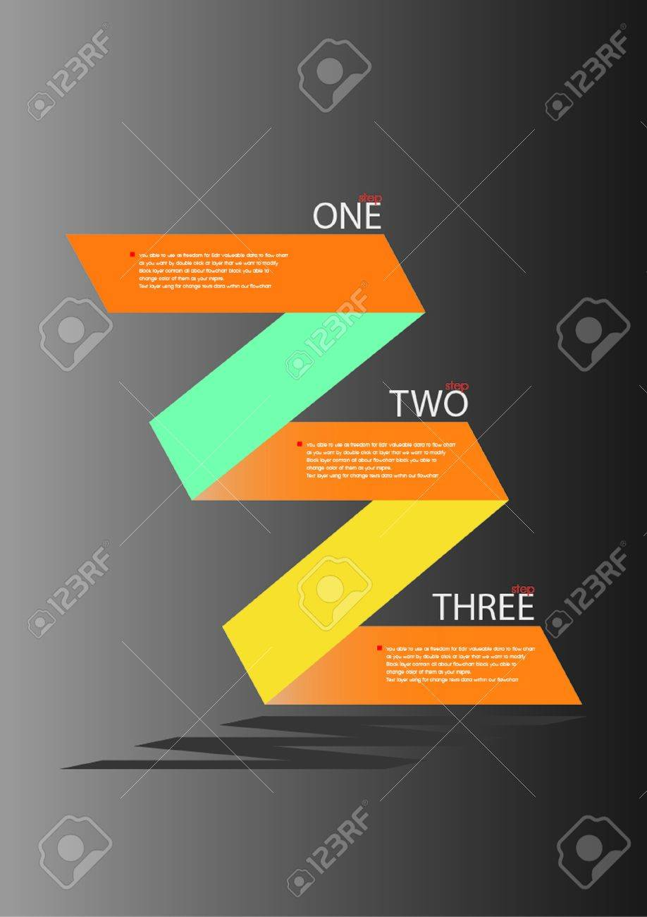 Zig Zag Flow Chart Design Royalty Free Cliparts, Vectors, And ...