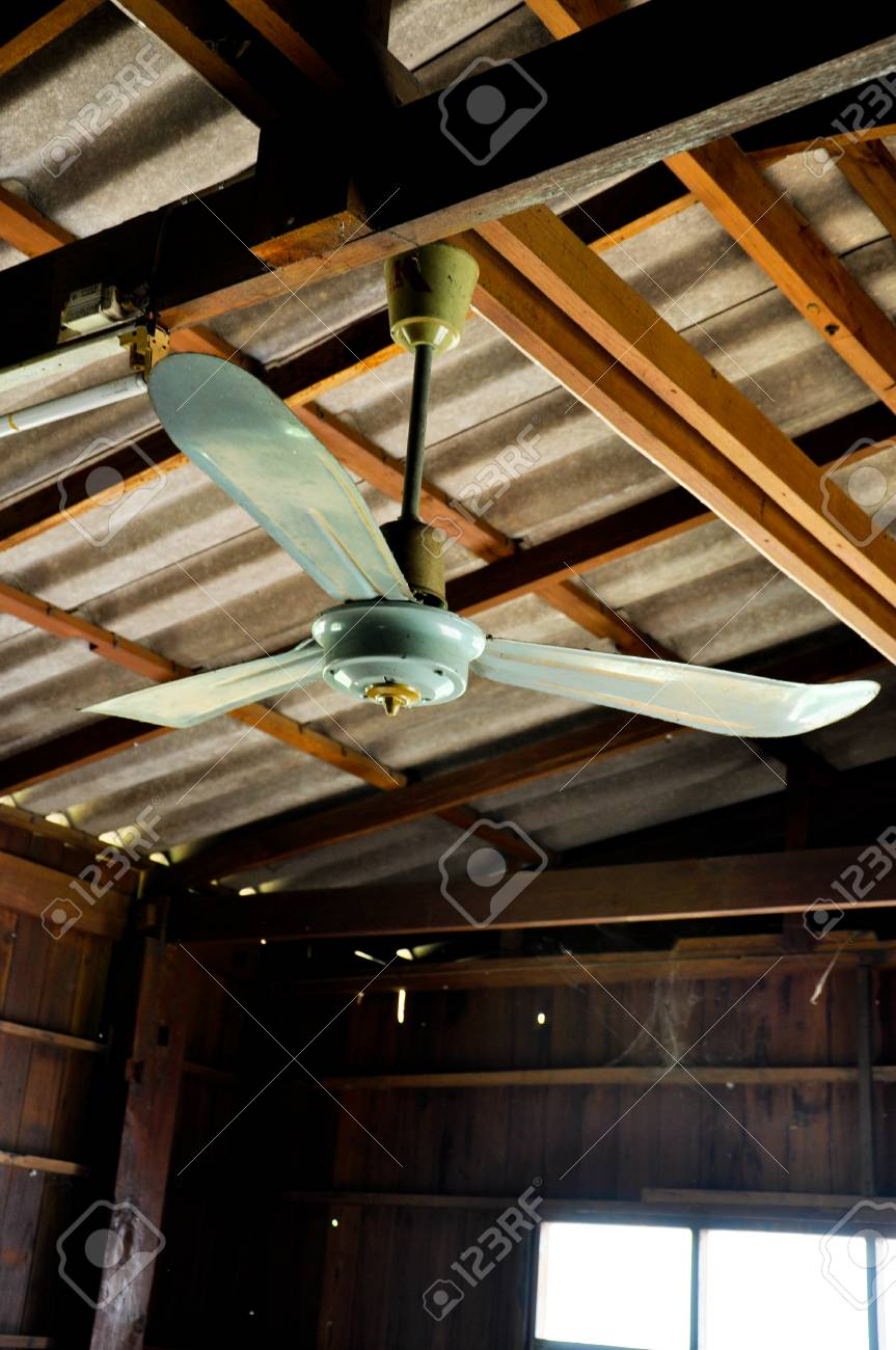 Old Ceiling Fan In Wood House Stock Photo Picture And Royalty Free Image Image 77650349