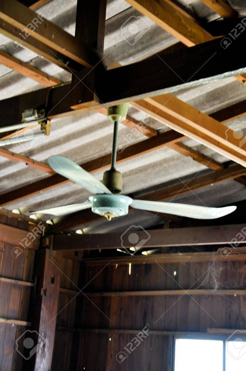 Old Ceiling Fan In Wood House Stock Photo Picture And Royalty Free Image Image 77650350