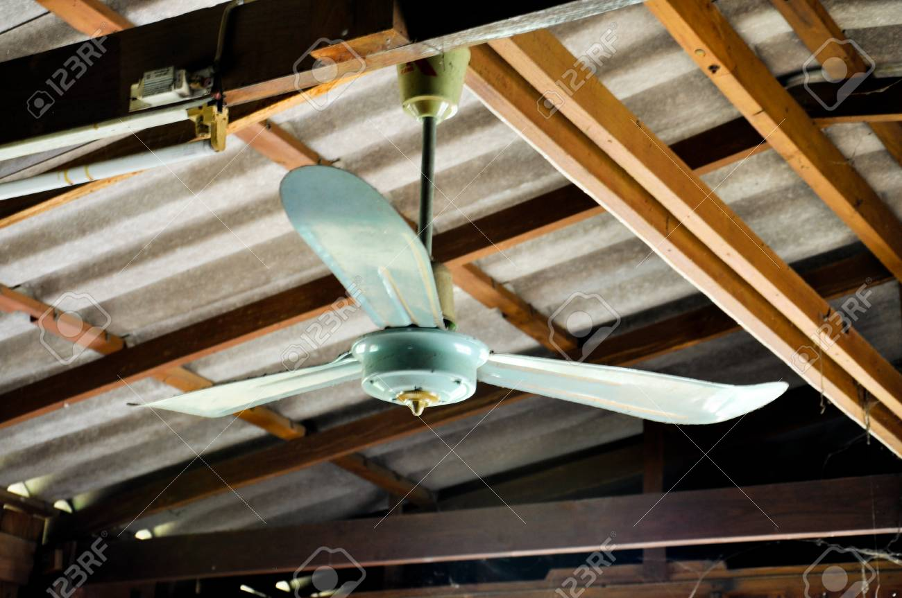 Old Ceiling Fan In Wood House Stock Photo Picture And Royalty Free Image Image 77650356