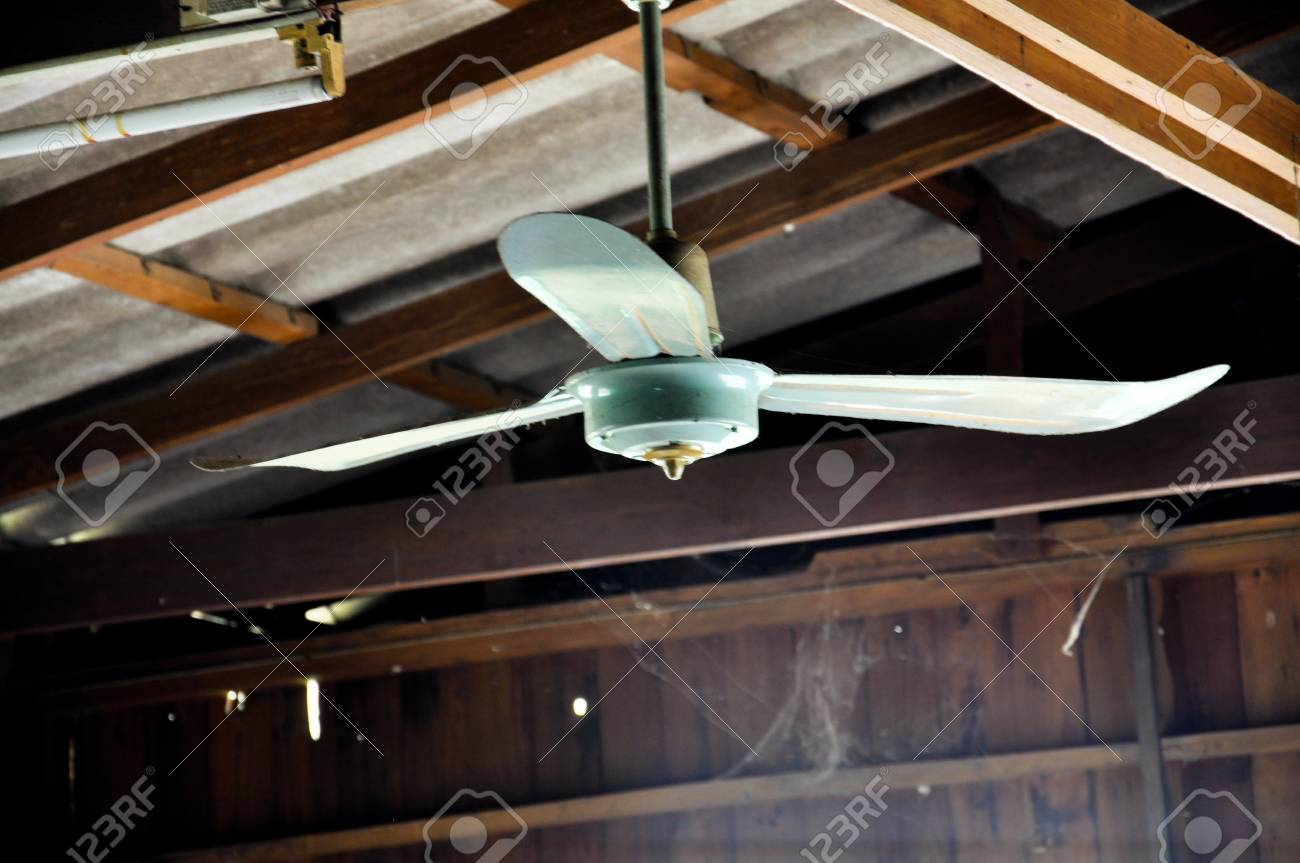 Old Ceiling Fan In Wood House Stock Photo Picture And Royalty Free Image Image 77650360