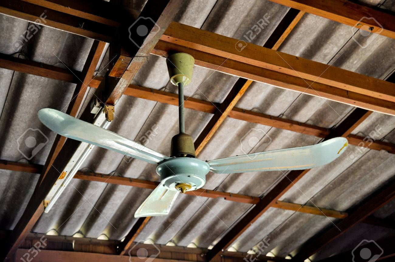 Old Ceiling Fan In Wood House Stock Photo Picture And Royalty Free Image Image 77650367