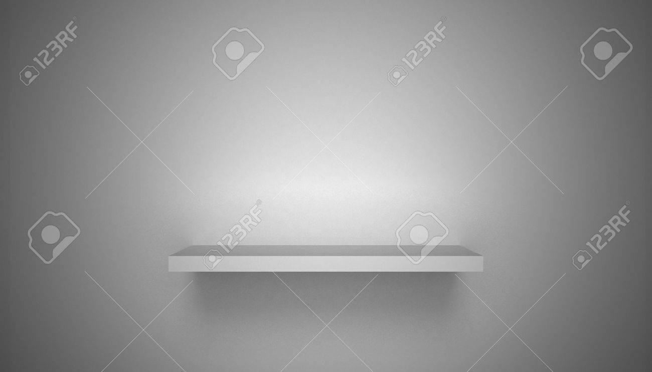 3D empty shelf on wall. Stock Photo - 10442854