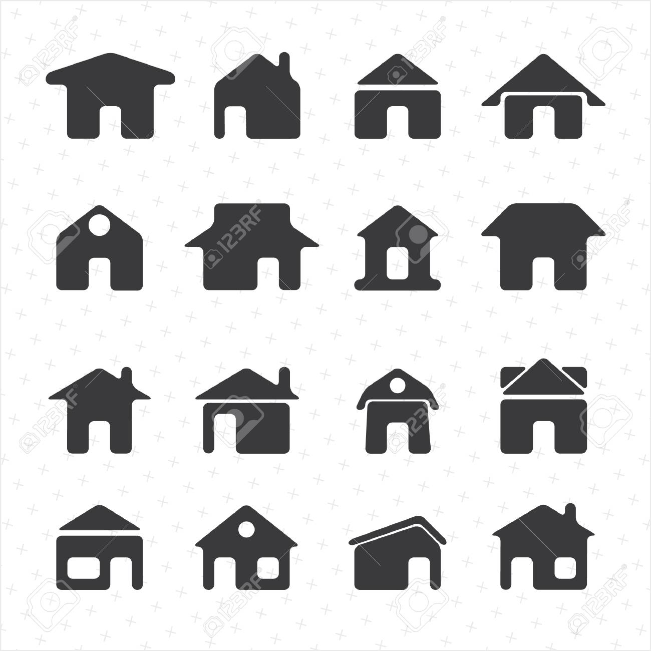 House icon set Stock Vector - 22069618