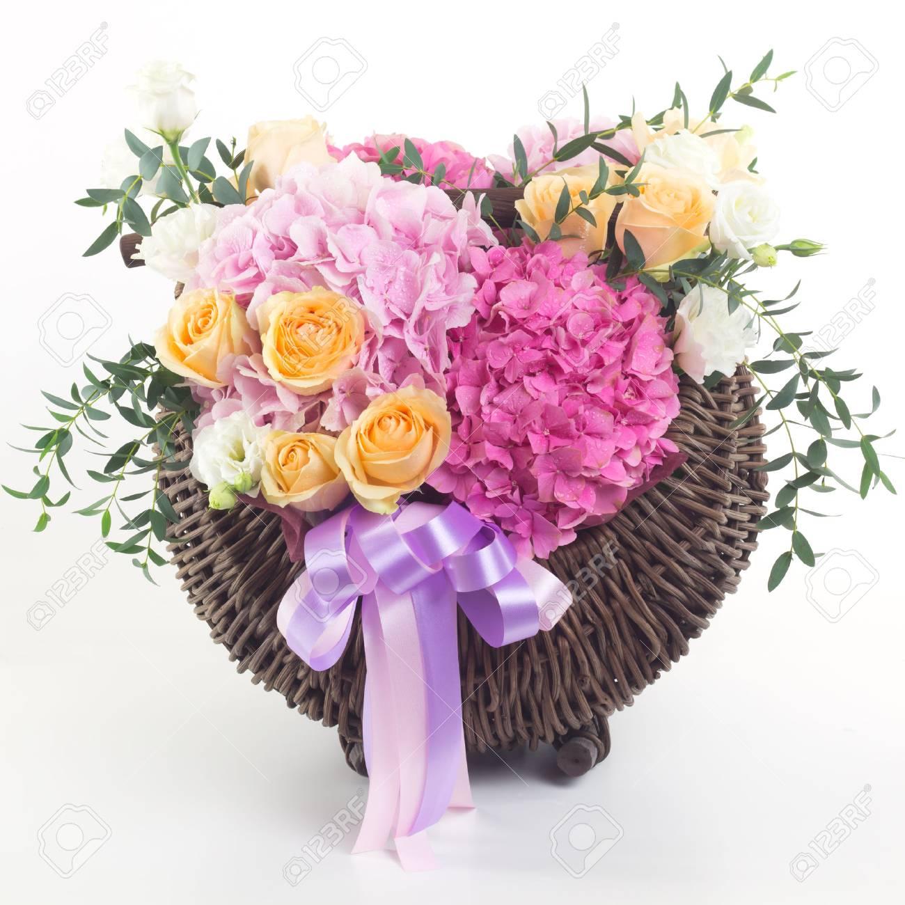 Beautiful flowers in basket isolated stock photo picture and beautiful flowers in basket isolated stock photo 44580101 izmirmasajfo