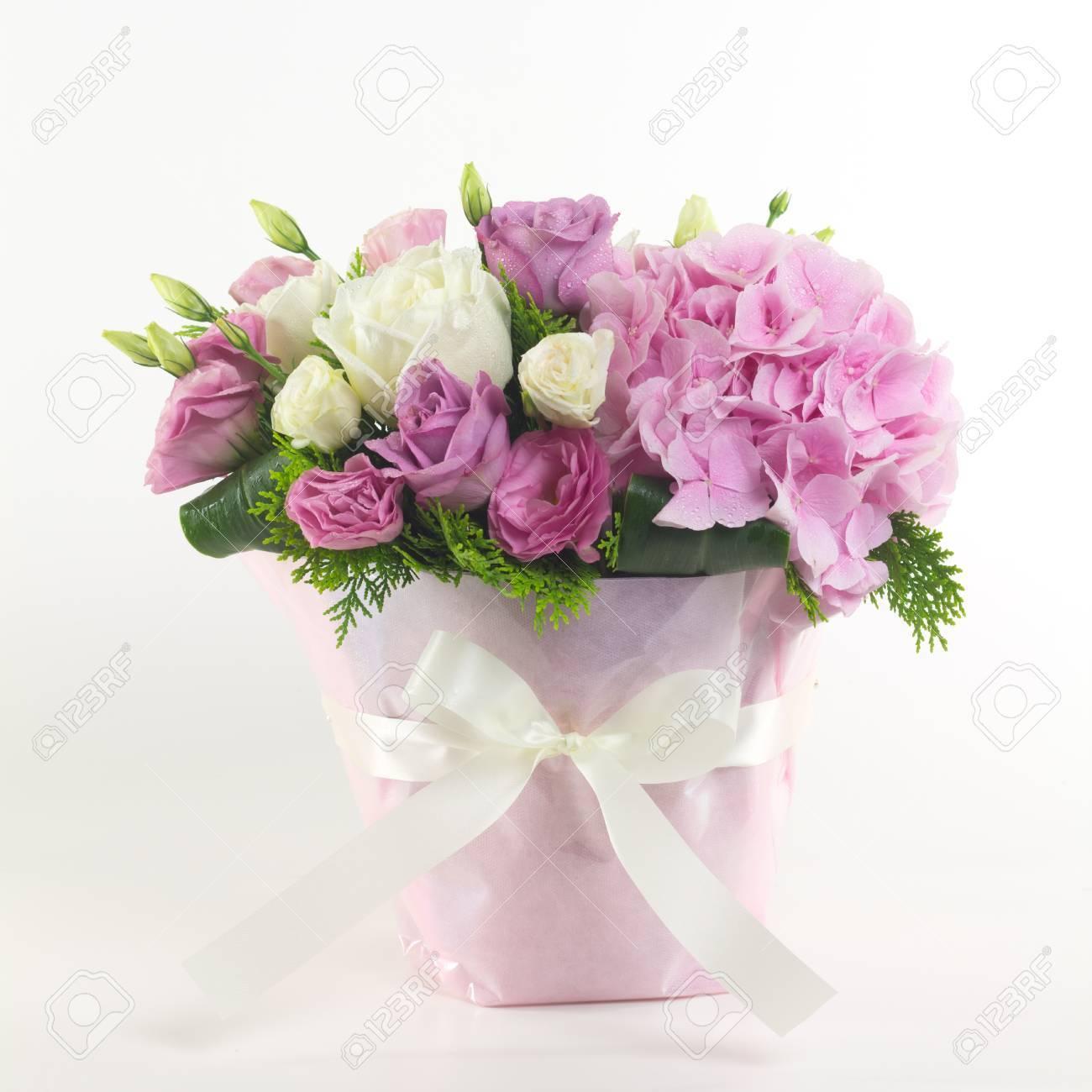 Beautiful flowers in basket isolated stock photo picture and beautiful flowers in basket isolated stock photo 44580142 izmirmasajfo