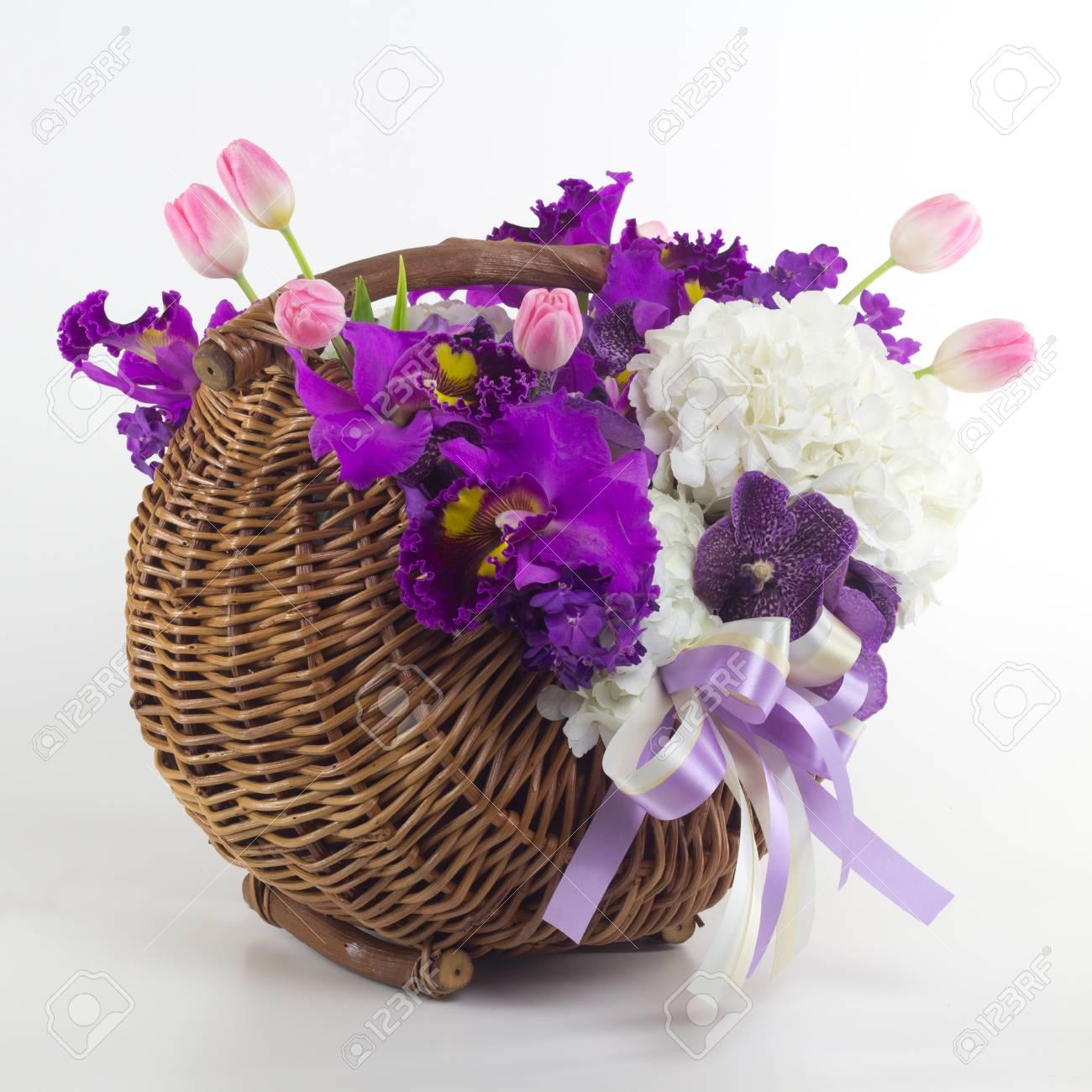 Beautiful flowers in basket isolated stock photo picture and beautiful flowers in basket isolated stock photo 44912466 izmirmasajfo