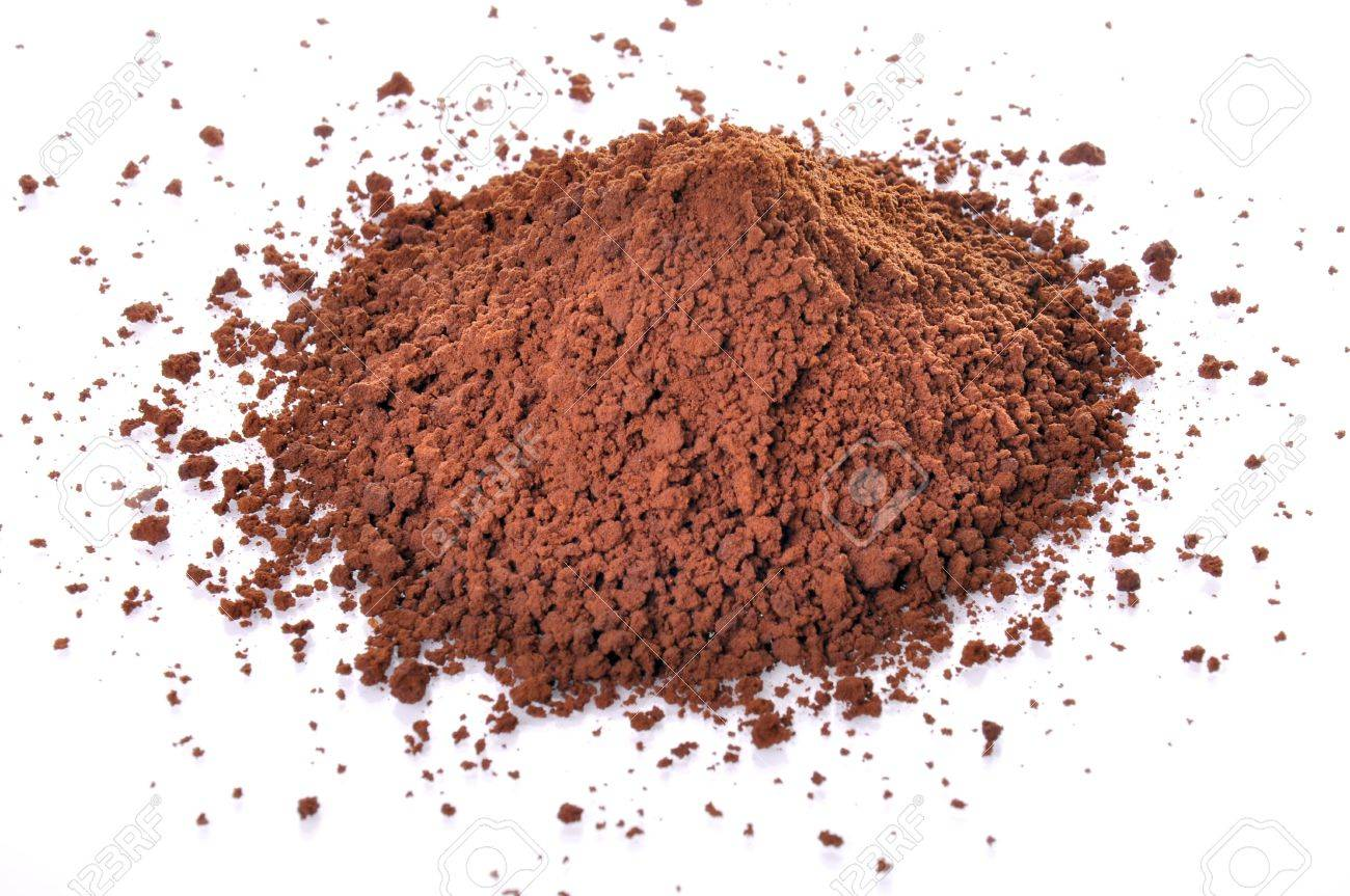 The cocoa Powder with isolated on white background. Stock Photo - 9341629