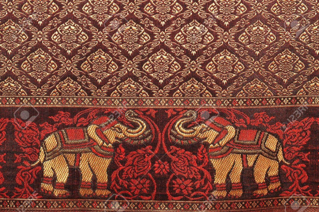 Thai Elephant Pattern Elephant Pattern Background
