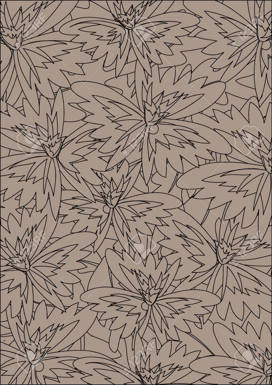 Seamless wallpaper pattern, vector Stock Vector - 11885479