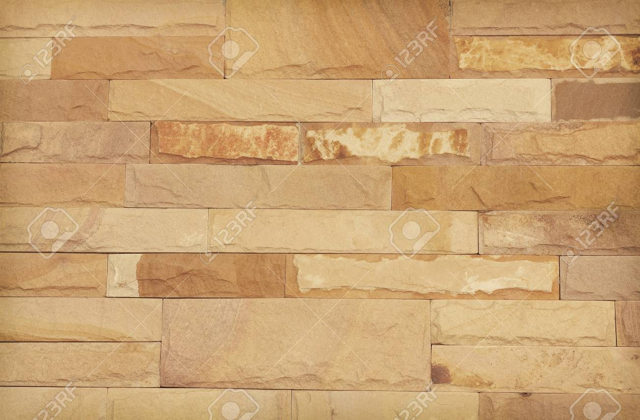 Background Of Modern Stone Brick Wall Texture, Abstract Sand.. Stock ...