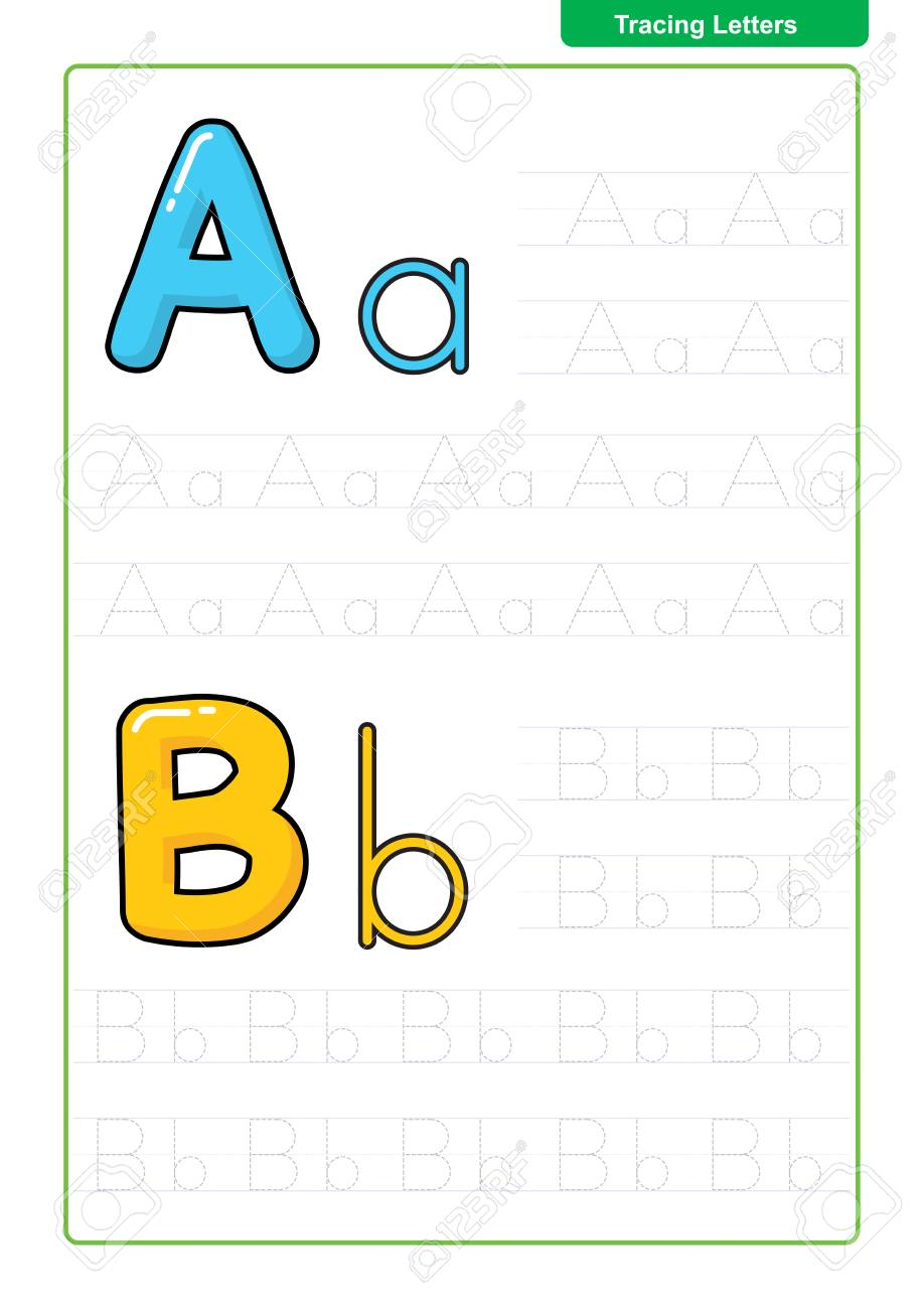 ABC Alphabet letters tracing worksheet with alphabet letters...