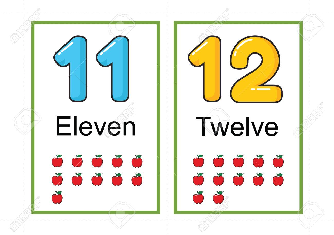 printable number flashcards for teaching number, flashcards number, a4 with dotted line cut - 127189885