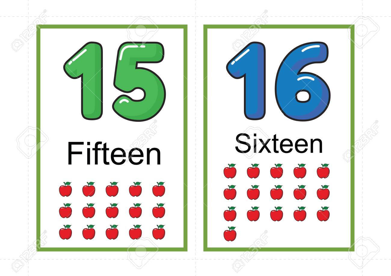printable number flashcards for teaching number, flashcards number, a4 with dotted line cut - 127189896