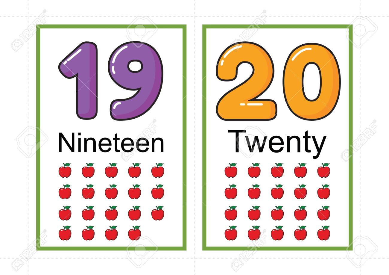 printable number flashcards for teaching number, flashcards number, a4 with dotted line cut - 127190915