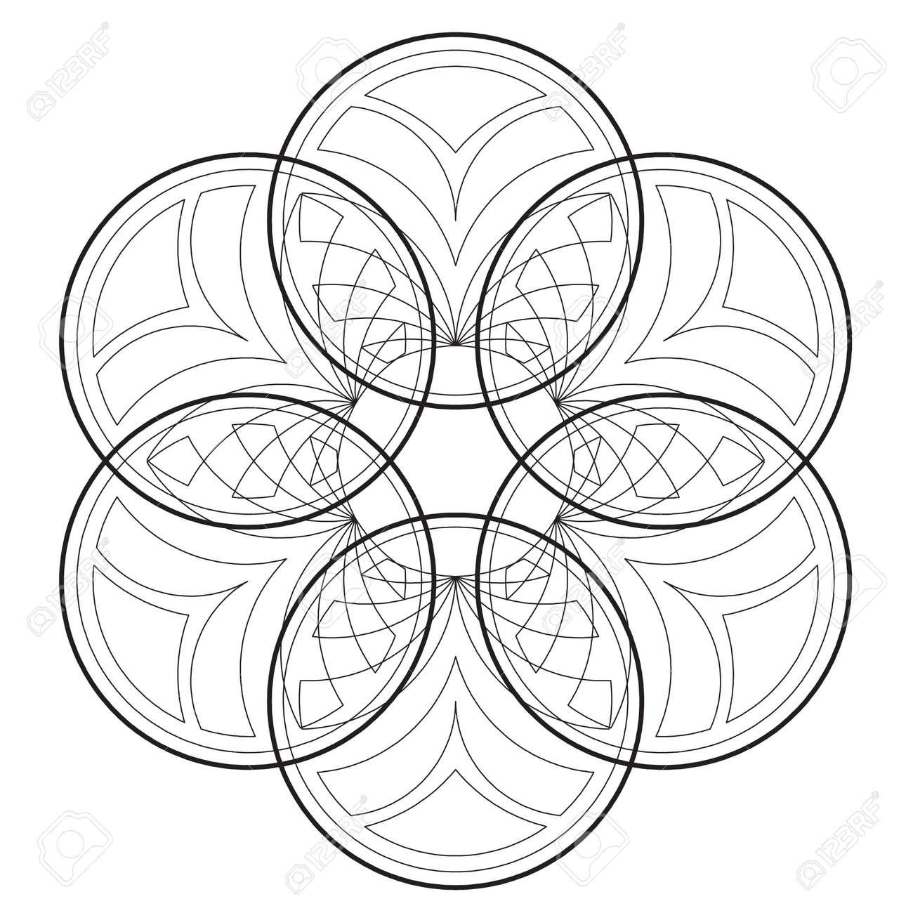 Coloring madalas. adult coloring . madalas coloring on white background. Mandalas art therapy & healing. - 151773690