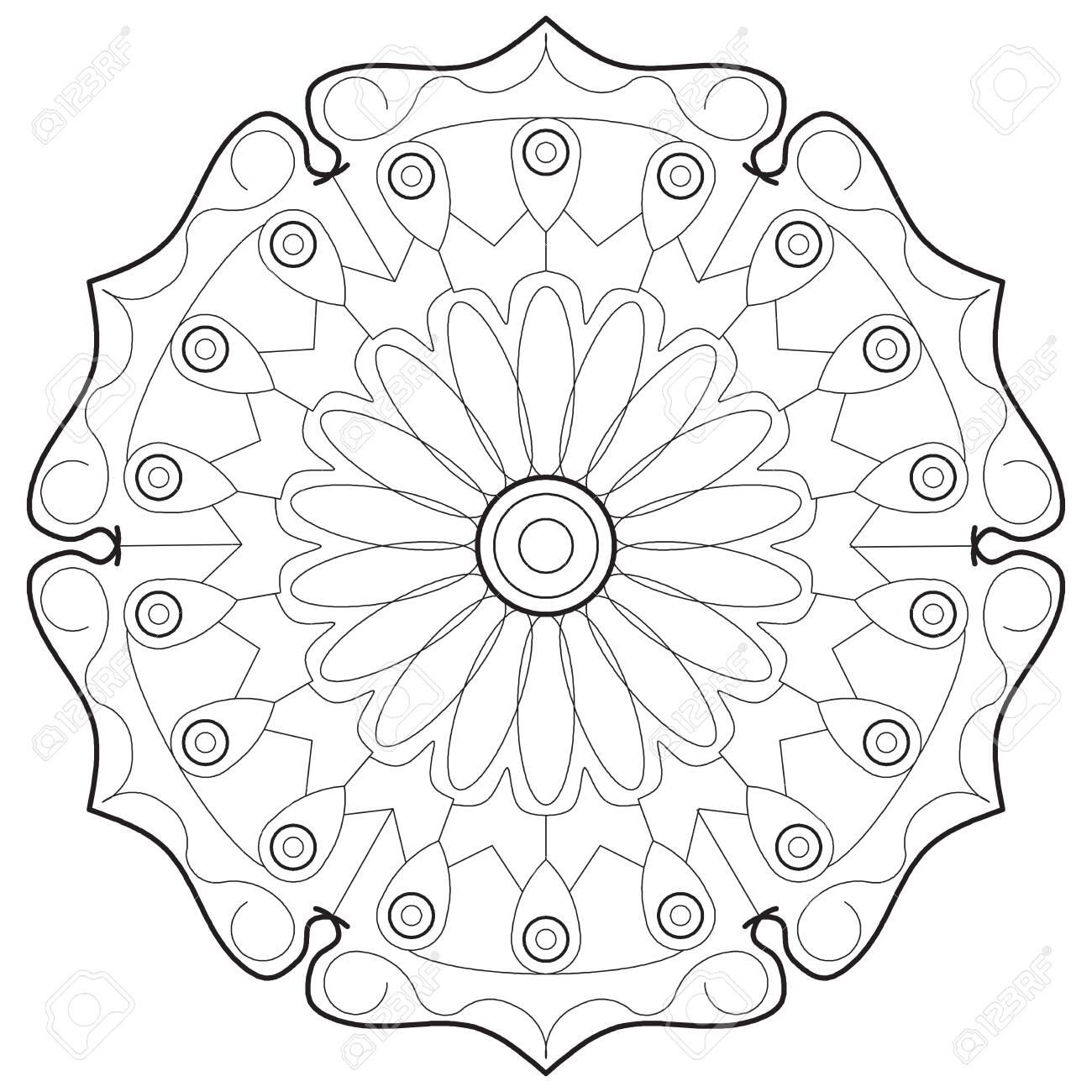 Coloring madalas. adult coloring . madalas coloring on white background. Mandalas art therapy & healing. - 152031293