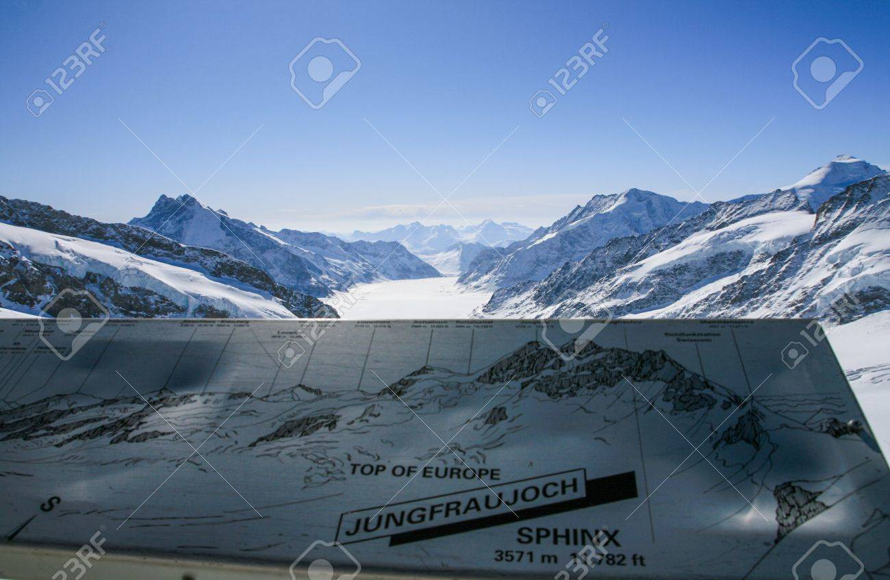 Aletsch glacier view from Sphinx observatory