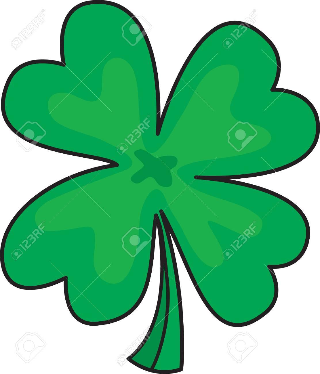 Four leafs clover Stock Vector - 3608159