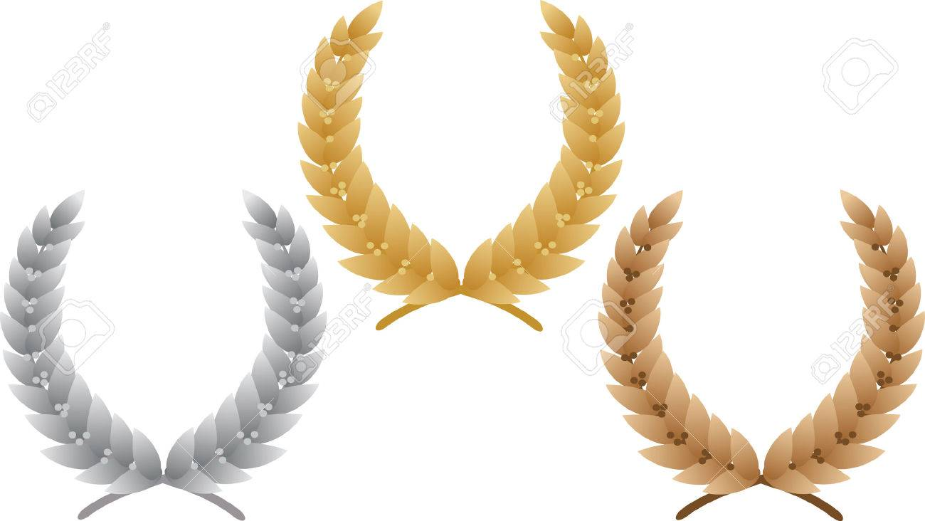 Three laurel wreath. Vector illustration Stock Vector - 3608259