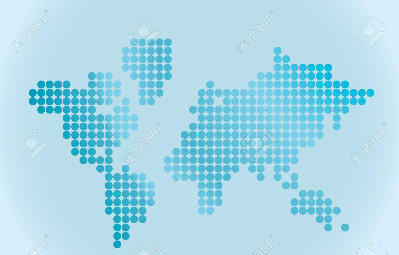 Map of world. Vector illustration Stock Vector - 3612934
