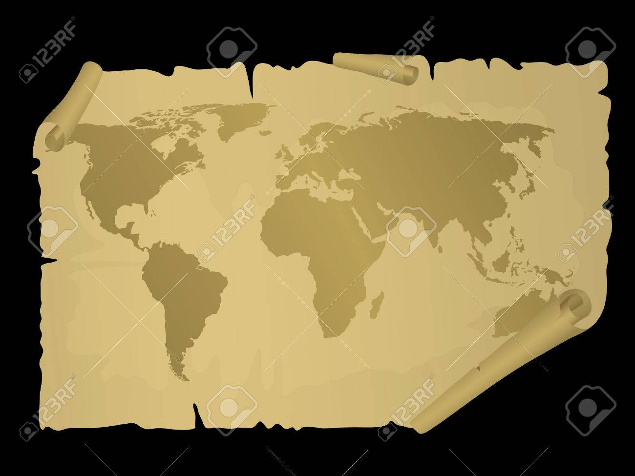 Vintage world map vector illustration royalty free cliparts vector vintage world map vector illustration gumiabroncs Images