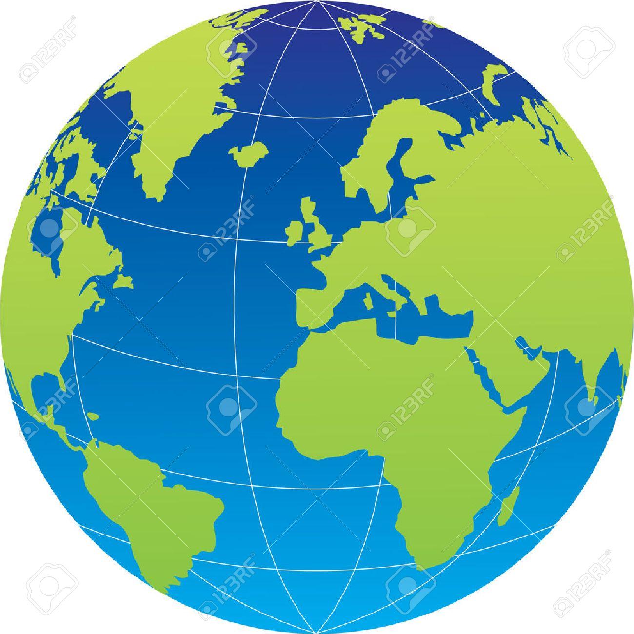 Globe on white background. Vector illustration Stock Vector - 3650326