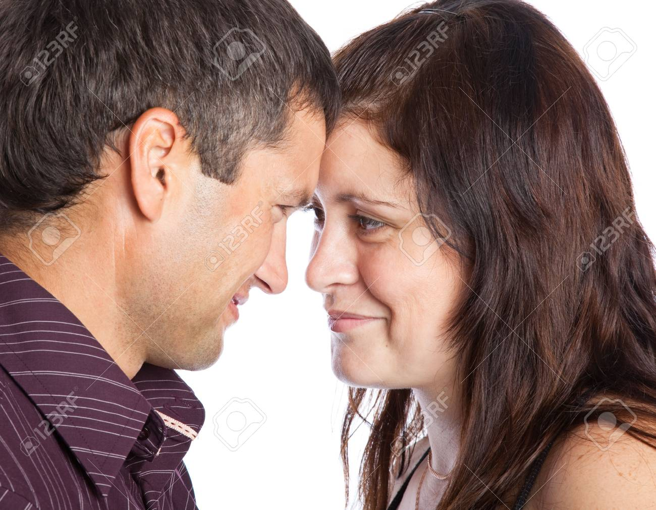 Happy loving couple. Isolated on white background Stock Photo - 5069860
