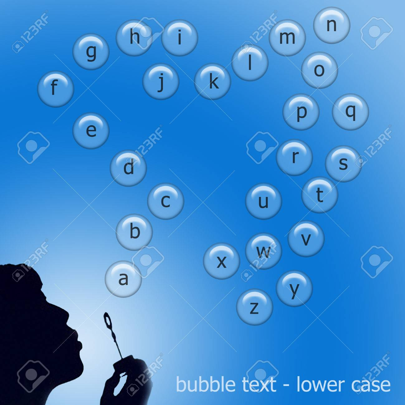 bubble text in lower case Stock Vector - 7119844