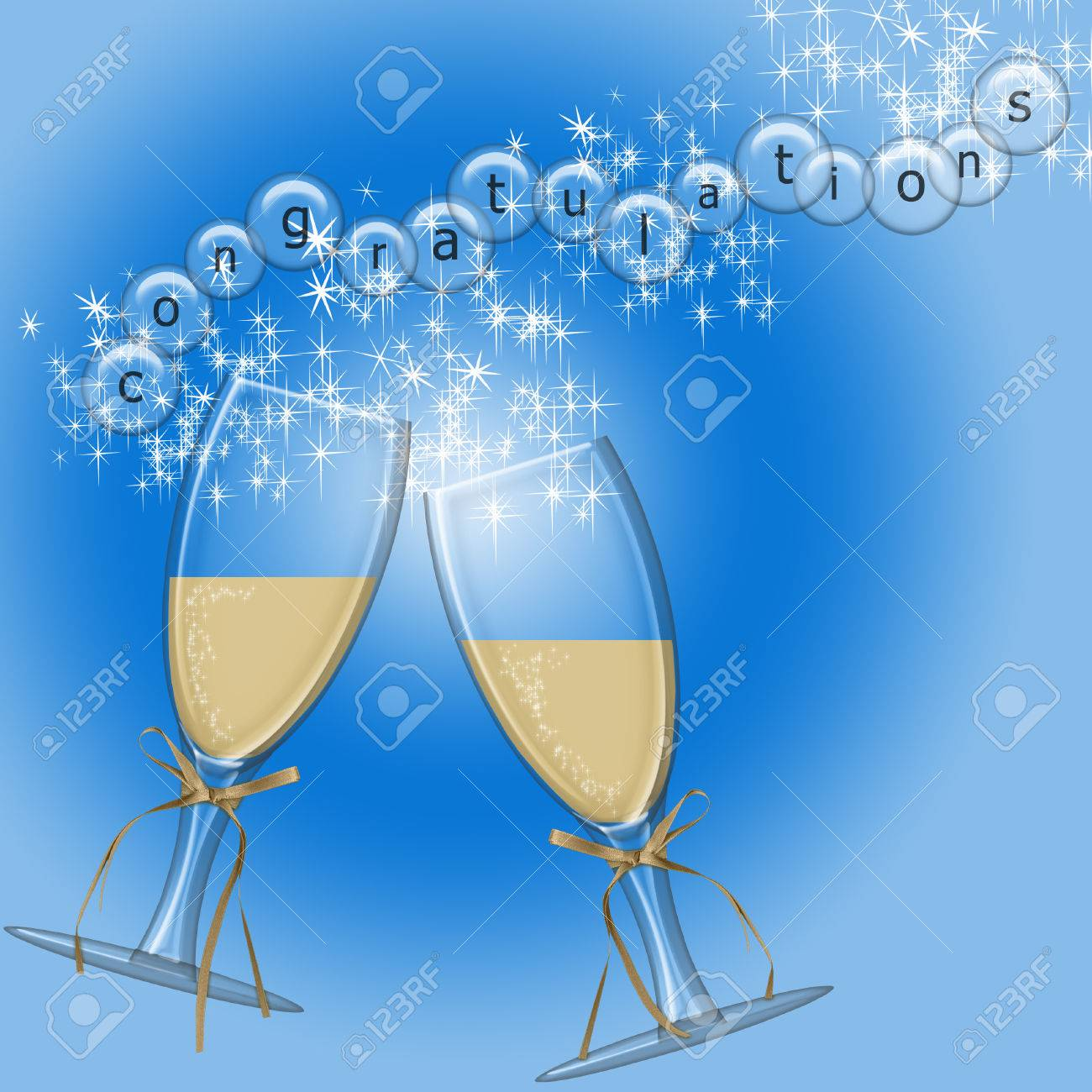 celebration glasses with congratulations in the bubbles Stock Vector - 7119851