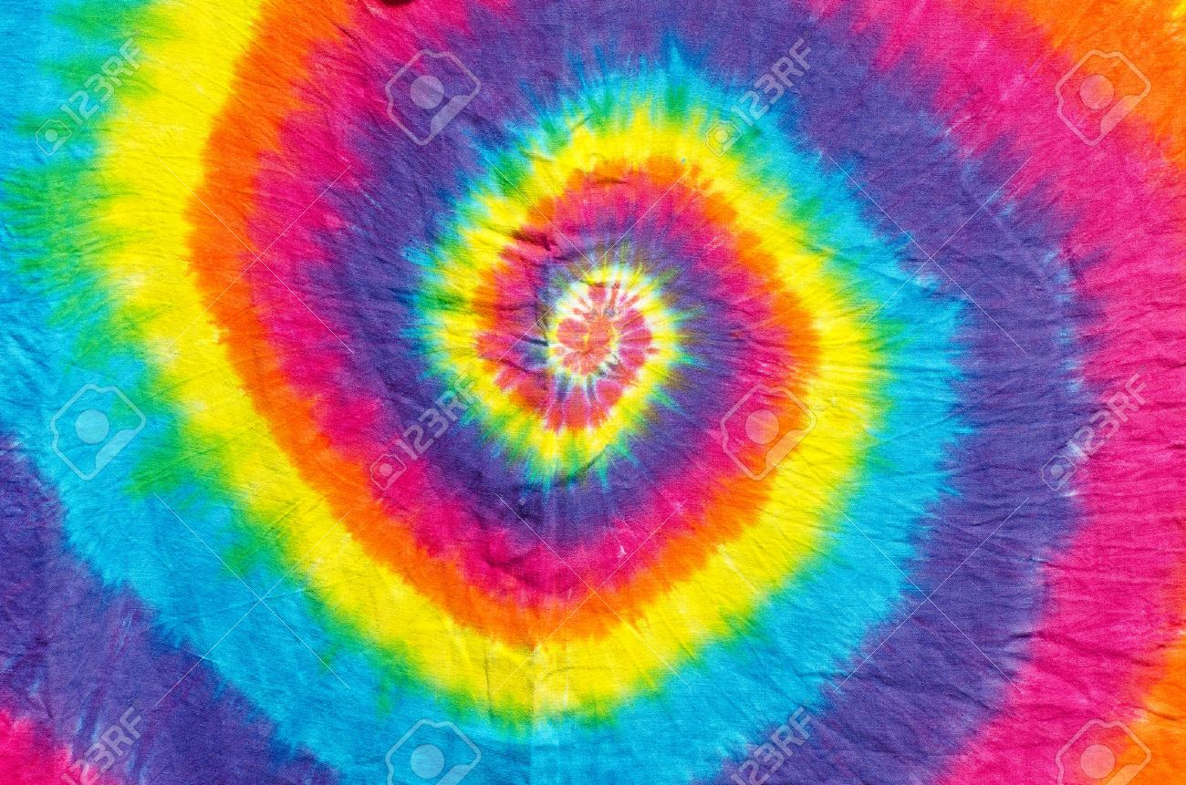 Tie-Dye Fabric Colors Stock Photo, Picture And Royalty Free Image ...