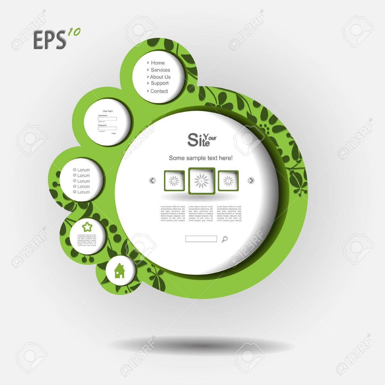 Modern nature green  web design Stock Vector - 13345342