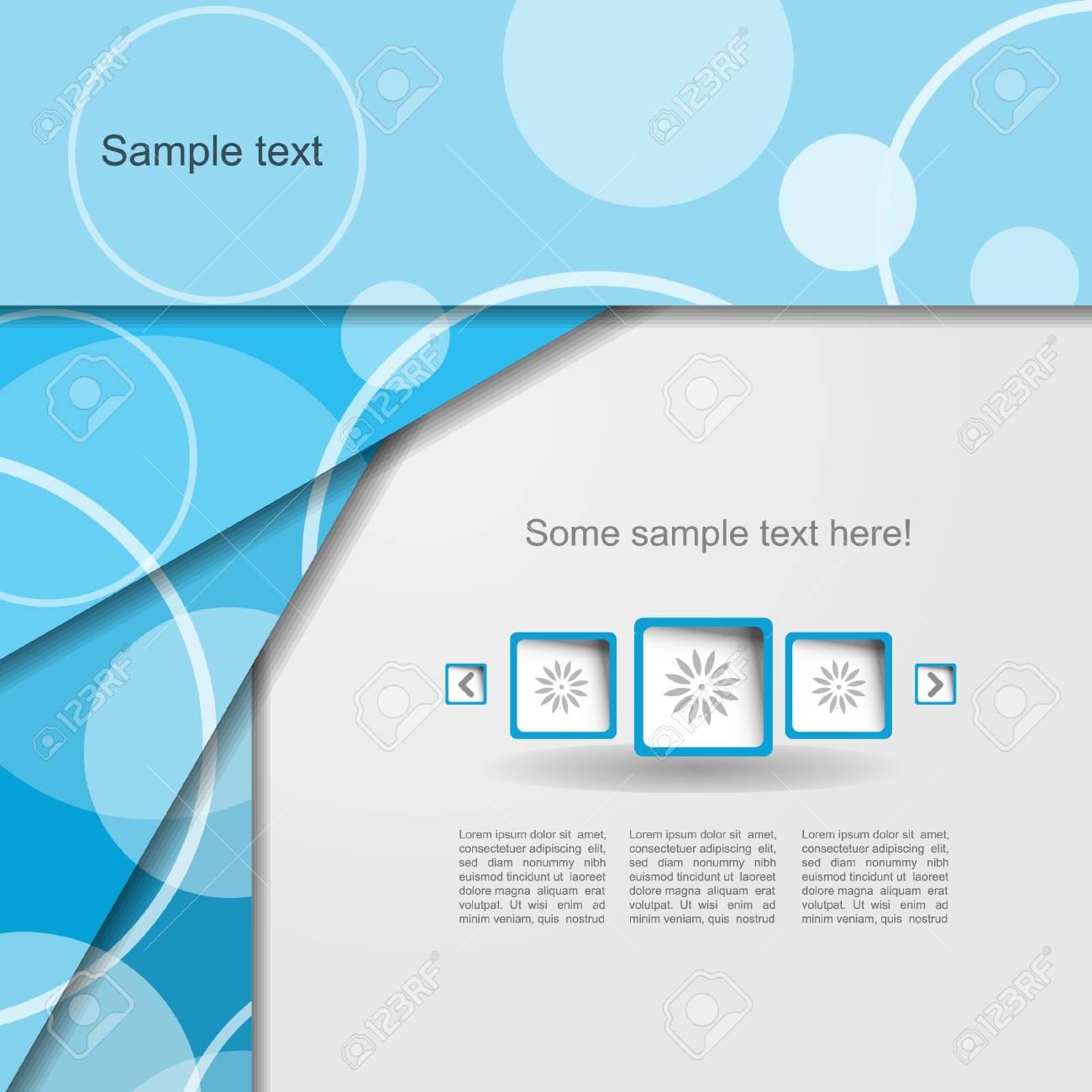 Modern blue portfolio Stock Vector - 13345332
