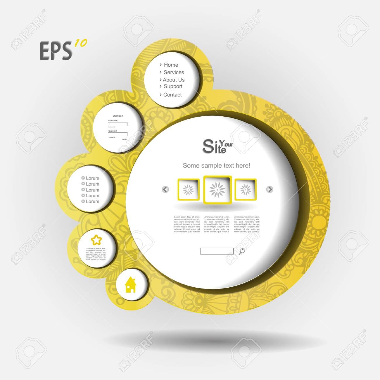 Yellow vector web Stock Vector - 13345335